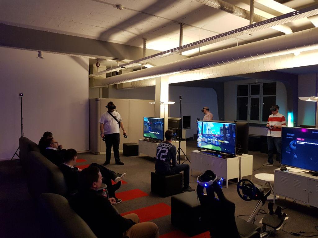 VR-Games während eines Events