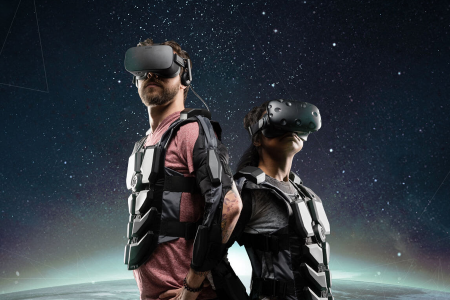 Feedback vest with vr glass